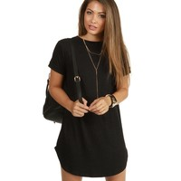 Charcoal Laid Back Ribbed Tunic