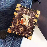 LV Louis Vuitton Newest Stylish iPhone Airpods Headphone Case Wireless Bluetooth Headphone Protector Case(No Headphones)