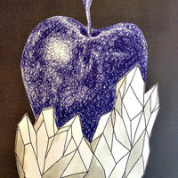 Contrasted Apple with Crystals
