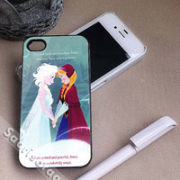 Disney Frozen Princess Elsa and Princess Anna Quote for iPhone 4/4s, iPhone 5, 5s, 5c Case, Samsung Galaxy S3, S4 Case
