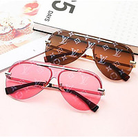LV Louis Vuitton Fashion New Monogram Print Women Travel Leisure Glasses Eyeglasses