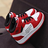Children Casual Shoes Leather Toddler Girls Running Shoes Air Cushion Damping Boys Sneakers Kids Sports Shoes Jordan