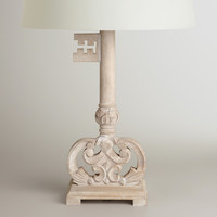Wood Key Table Lamp Base - World Market