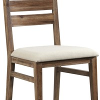 Waverly Ladderback Dining Side Chair with Polyester Upholstered Cushion Seat by Cresent Fine Furniture at Gardiners Furniture