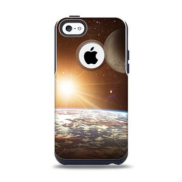 The Earth, Moon and Sun Space Scene Apple iPhone 5c Otterbox Commuter Case Skin Set