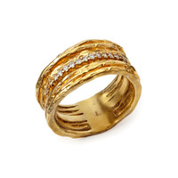 DIAMONDS IN THE ROUGH WEDDING BAND