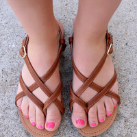 Walk to Remember Sandal - Cognac