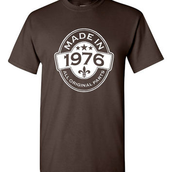 MADE in 1976 All Original Parts Birthday T Shirt Ladies Mens Vintage Birthday Shirt 39th Birthday