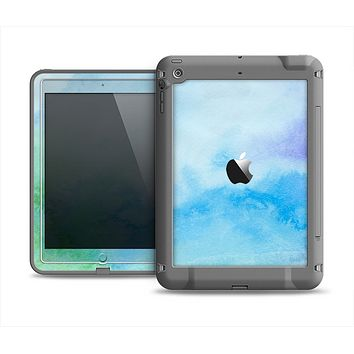 The Subtle Green & Blue Watercolor V2 Apple iPad Mini LifeProof Fre Case Skin Set