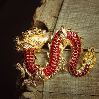 Lucky Dragon Brooch #5292