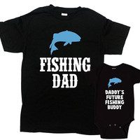 Matching Father Son Shirts Daddy And Me Outfits Dad And Son Gifts Family T Shirts Fishing Gifts For Dad Fathers Day Present - SA1088-1089