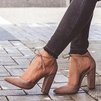Sexy Strapped Thick Heel