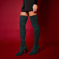 RI Studio dark green over the knee boots - boots - shoes / boots - women
