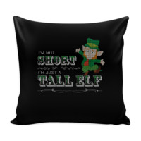 I'm Not Short I'm Just A Tall Elf Festive Funny Ugly Christmas Holiday Sweater Decorative Throw Pillow Cases Cover(4 Colors)