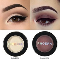 PHOERA 12 Colors Matte Eye Shadow Glitter Eyeshadow Powder Pigment Nude Long Lasting Available Makeup Water-Resistant TSLM1