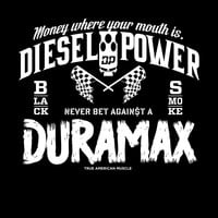 """18"""" X 15"""" Never Bet Against a Duramax Decal"""