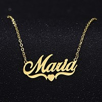 Fashion Name Personalized Custom Stainless Steel Necklace