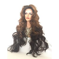 Majesty mixed auburn 30 Inches Custom Lace Front Wig