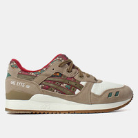 Asics Gel-Lyte Iii Shoes - Light Brown/olive at Urban Industry