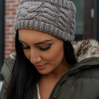 Warm As Can Be Headband - Taupe