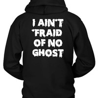 Funny Halloween Costume I Ain'T Fraid Of No Ghost Scary Child Hoodie Two Sided
