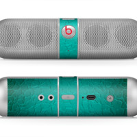 The Teal Stamped Texture Skin for the Beats by Dre Pill Bluetooth Speaker