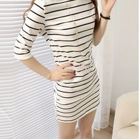 Aliexpress.com : Buy hot selling 2014 new summer preppy style casual stripe color block half sleeve slim hip one piece dress women from Reliable dresses for attending wedding suppliers on Angel City 2014