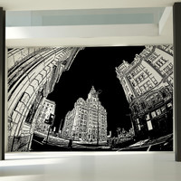 Vinyl Wall Decal Sticker NYC Buildings Design #5227
