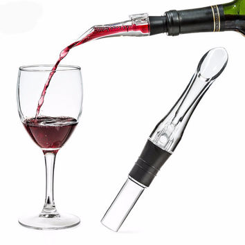 1PC New Portable Wine Aerator Acrylic Spout Aerating Pourer Decanter Wine Aerator