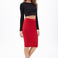 FOREVER 21 Classic Knit Pencil Skirt
