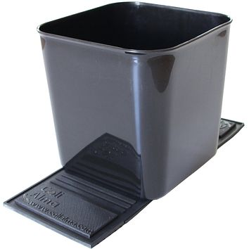 Auto Car Vehicle Garbage Can Trash Bin Waste Container Quality Plastic EXTRA LARGE 1 Gallon 4 Liter, Quality For Life Black