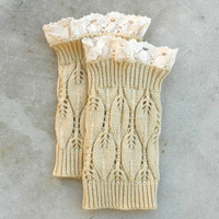 Cozy Honey Lace Top Boot Cuffs
