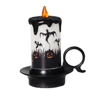 New Halloween Venue Layout Props Bar Ghost Festival Layout New Halloween Candlestick Halloween Decorations for Home Accessories