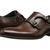 To Boot New York Brown Leather Double Monk Strap Mens Shoes