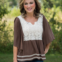 Just Say Yes Top - Brown