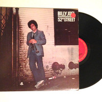Vinyl Album Billy Joel 52nd Street LP record 1978 Jazzy Piano Ballad Pop