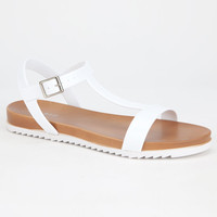 Bamboo Acai Womens Sandals White  In Sizes
