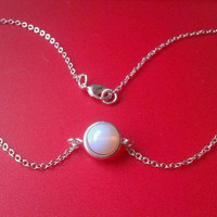 Twilight Bella inspired genuine Moonstone choker necklace 925 & silver plated free gift pouch