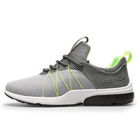 Breathable Air Mesh Men's Sports Running Shoes Man Leather Cushion Sneakers Outdoor Lightweight Trainner Jogging Shoes H1612