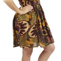 One-size-fits-all Lined Ruffled Tube Dress/Coverup - Eclectic Print $19.99