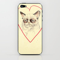 Grumpy Cat Love iPhone & iPod Skin by Withapencilinhand | Society6
