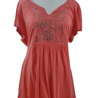 Orange Short Sleeve Top by Duo Maternity