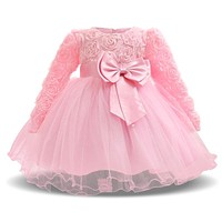 Aini Babe Tutu Dresses for Toddlers Birthday Princess Dresses For 0-2T Girl Vestido Infantil Christmas Party New Baby Clothes