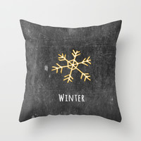 Winter Throw Pillow by ALLY COXON | Society6