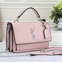 YSL Yves Saint laurent Women Fashion Leather Tote Crossbody Satchel