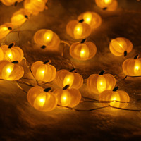40LED 10Ft 3m Pumpkim Led string Light Decoration Halloween Indoor&Outdoor Battery Operated Silver Wire String Light With Remote