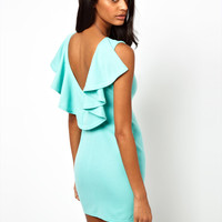Paprika Frill Dress with Low Back