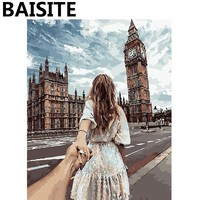 BAISITE Framed Landscape DIY Oil Painting By Numbers Painting&Calligraphy Wall Art Home Decor size 40*50cm E875