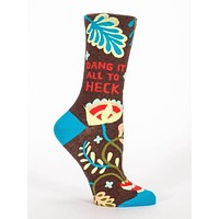 Dang It All To Heck Women's Crew Socks