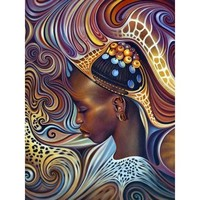 5D Diamond Painting Abstract Woman of Color Kit